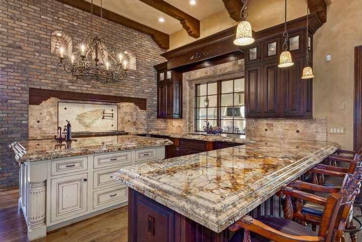 Caravelas Gold granite color - best for kitchen countertops