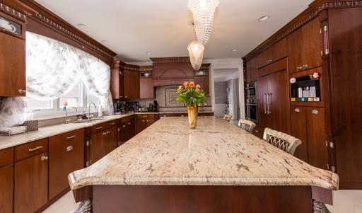 ivory brown granite kitchen countertop